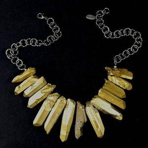 Handmade: Crystal quartz gemstone necklace